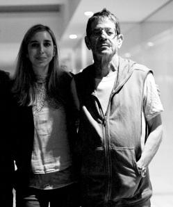 Diana Zaforteza junto a Lou Reed